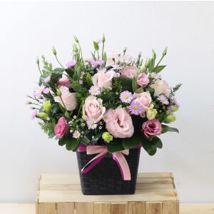 Pink tonings Flowers in Basket